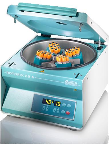 Hettich ROTOFIX 32 A benchtop centrifuge open