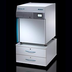 Hettich HettCube 200 incubator on rolling cabinet
