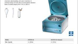 Hettich ROTOFIX 46 H benchtop centrifuge product sheet